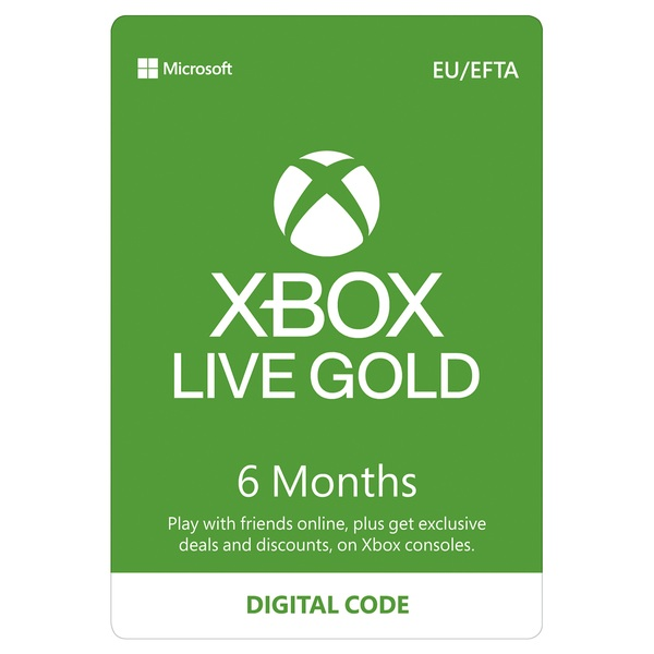 Xbox Live 6 Months Gold Membership Digital Download