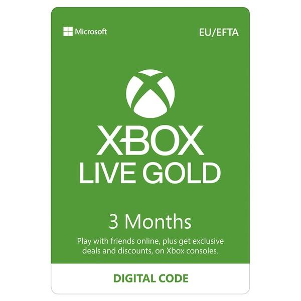 Xbox Live 3 Months Gold Membership Digital Download - Xbox One Memberships  Ireland