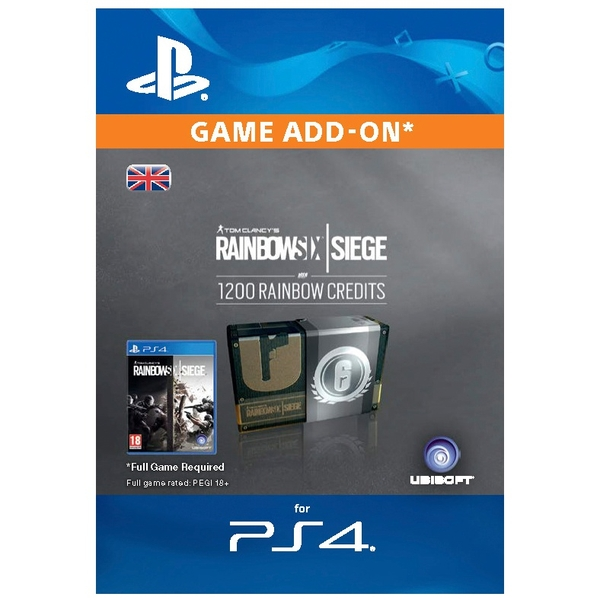 Rainbow Six Siege Digital Currency - 1200 credits PS4 (Digital Download)