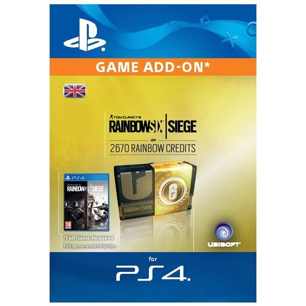 Rainbow Six Siege Digital Currency - 2670 credits PS4 (Digital Download)