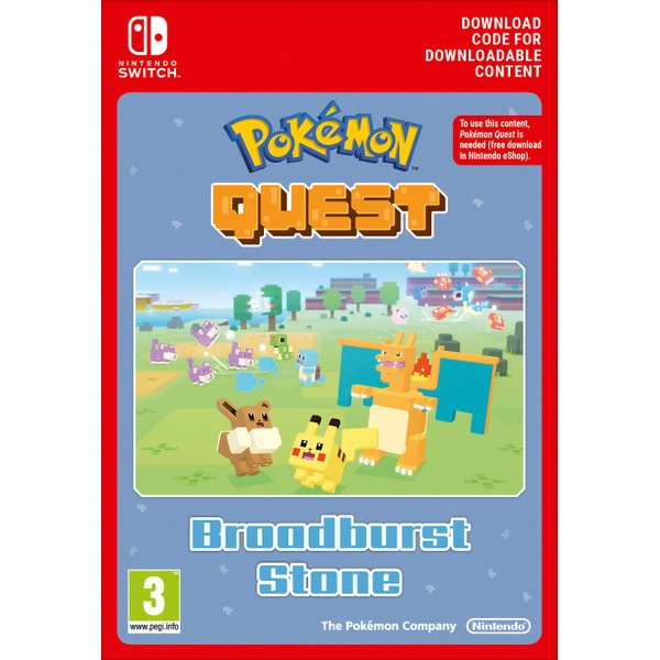 Pokémon Quest Broadburst Stone Nintendo Switch Digital Download