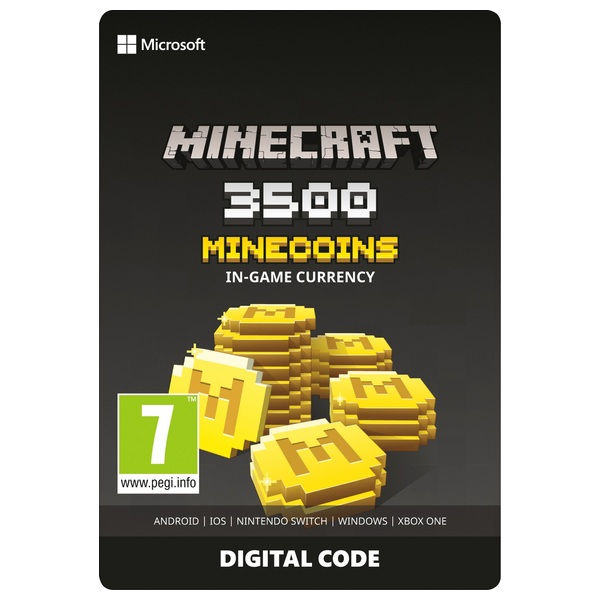 Minecraft: Minecoins Pack: 3500 Coins Digital Download - Xbox One Games &  Games Add-Ons UK