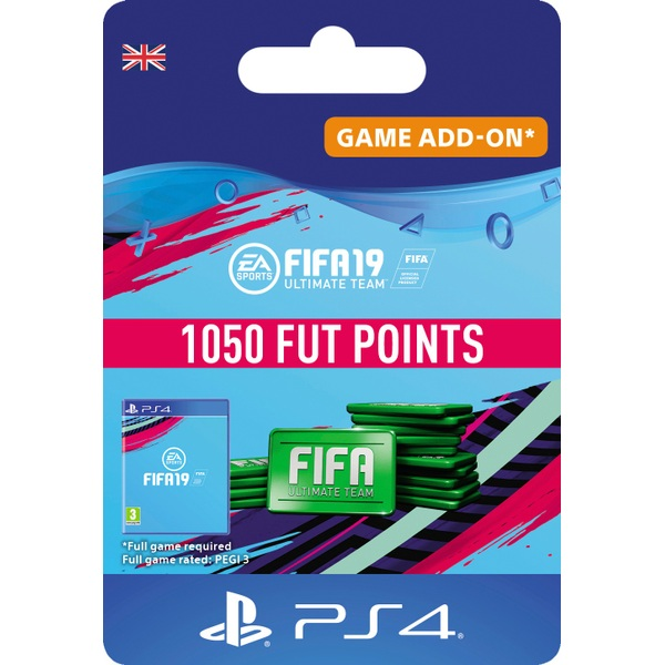 FIFA 19 Ultimate FIFA Points 1050 (PS4 Digital Download)