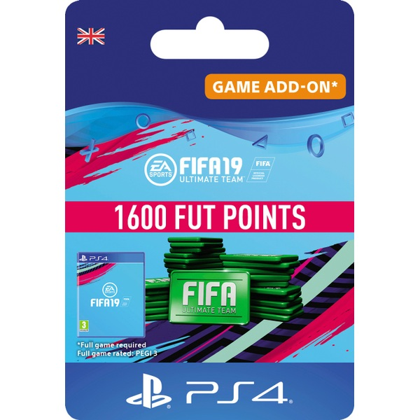 FIFA 19 Ultimate FIFA Points 1600 (PS4 Digital Download)