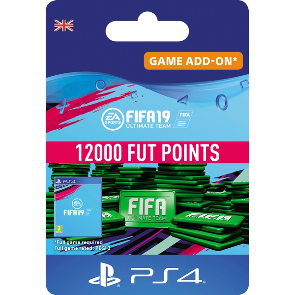 FIFA 19 Ultimate FIFA Points 12000 (PS4 Digital Download)