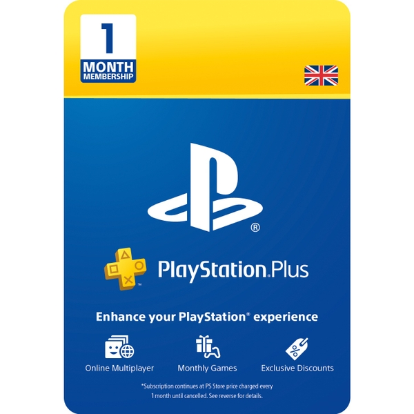 PlayStation Plus 1 Month Membership (Digital Download)