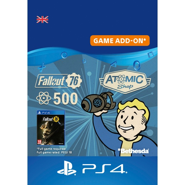 Fallout 76: 500 Atoms PS4 (Digital Download)