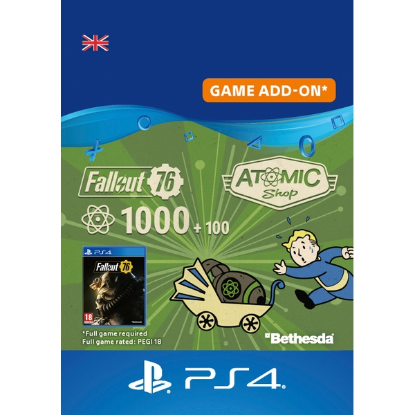 Fallout 76: 1000 (+100 Bonus) Atoms PS4 (Digital Download)