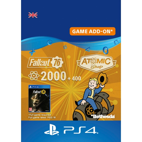Fallout 76: 2000 (+400 Bonus) Atoms PS4 (Digital Download)