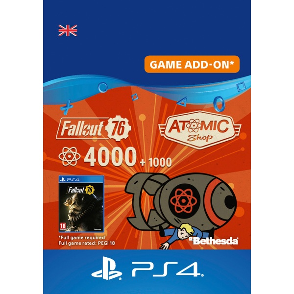 Fallout 76: 4000 (+1000 Bonus) Atoms PS4 (Digital Download)