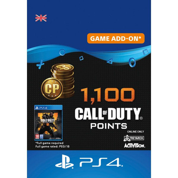 1,100 Call of Duty®: Black Ops 4 Points PS4 (Digital Download)