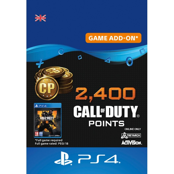 2,400 Call of Duty®: Black Ops 4 Points PS4 (Digital Download)