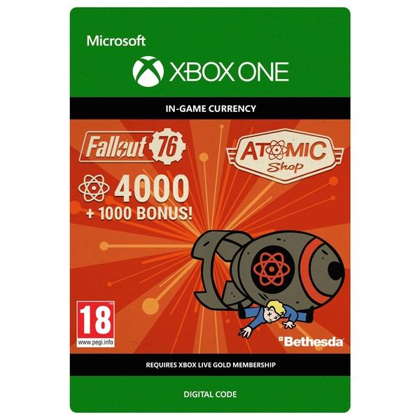Fallout 76: 4000 (+1000 Bonus) Atoms Xbox One (Digital Download)