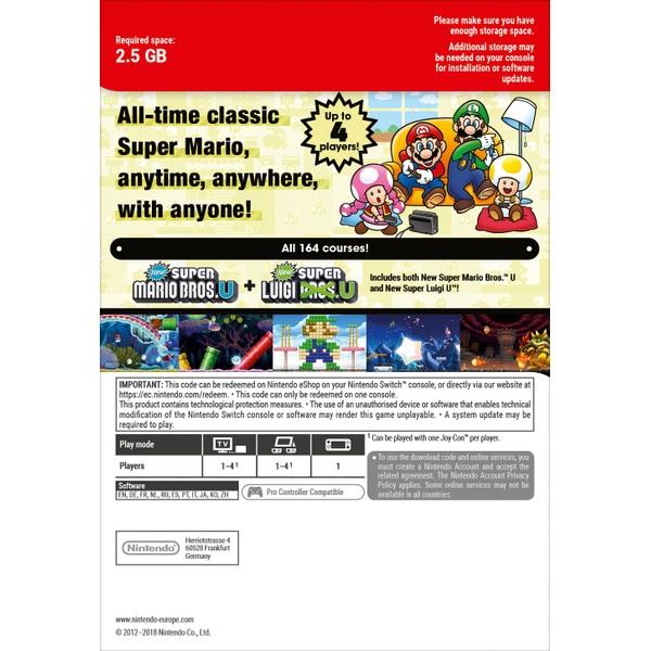 Super Mario Bros  U Deluxe Nintendo Switch (Digital Download) - Nintendo  Digital Downloads UK