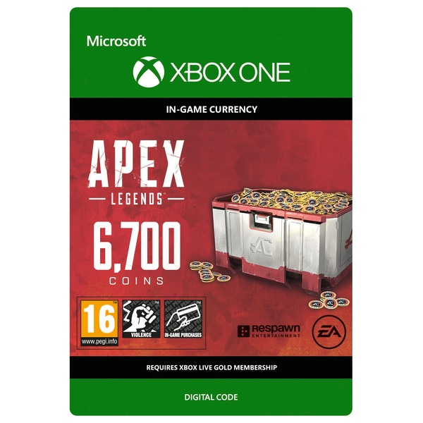 Apex Legends: 6700 Apex Coins - Xbox One (Digital Download)
