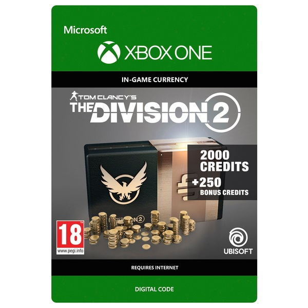 Tom Clancy's The Division 2: 2250 Premium Credits Pack - Xbox One (Digital Download)