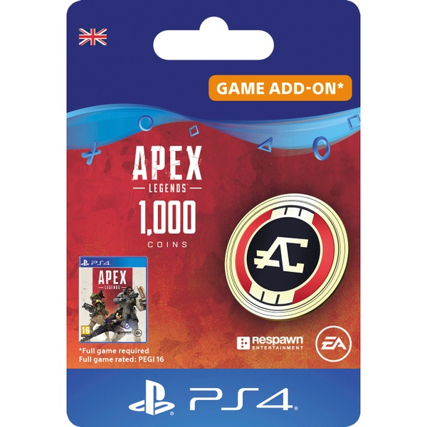 Apex Legends™ – 1,000 Apex Coins - PS4 (Digital Download)