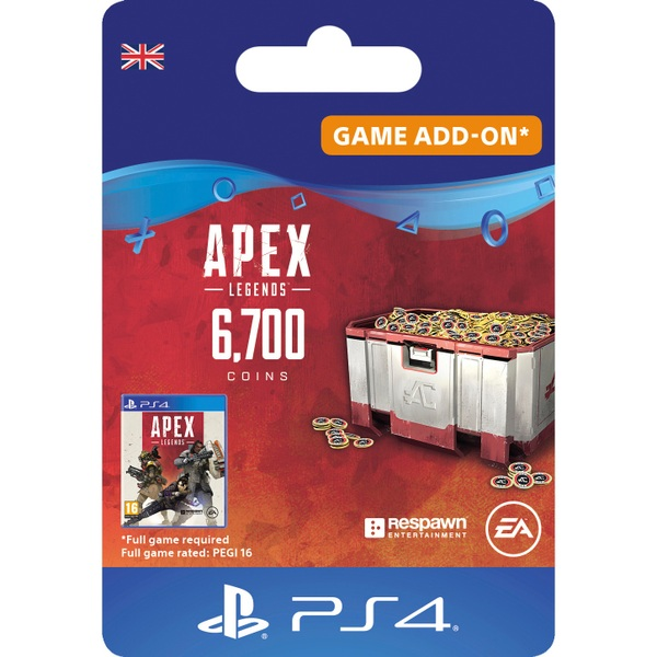 Apex Legends™ – 6,700 Apex Coins - PS4 (Digital Download)