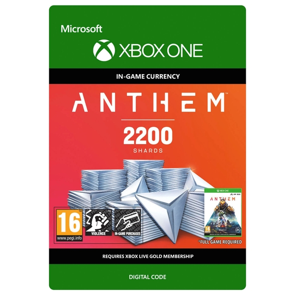 Anthem: 2200 Shards Pack - Xbox One (Digital Download)