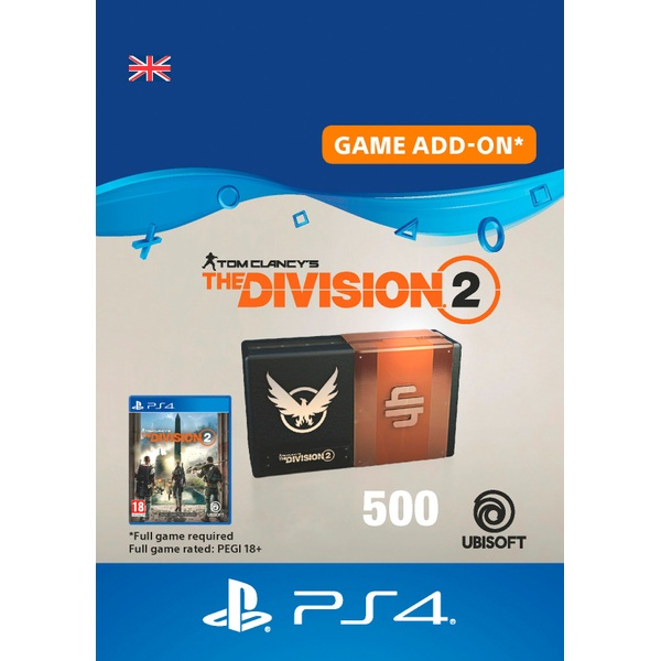 Tom Clancy's The Division 2 – 500 Premium Credits Pack - PS4 (Digital Download)