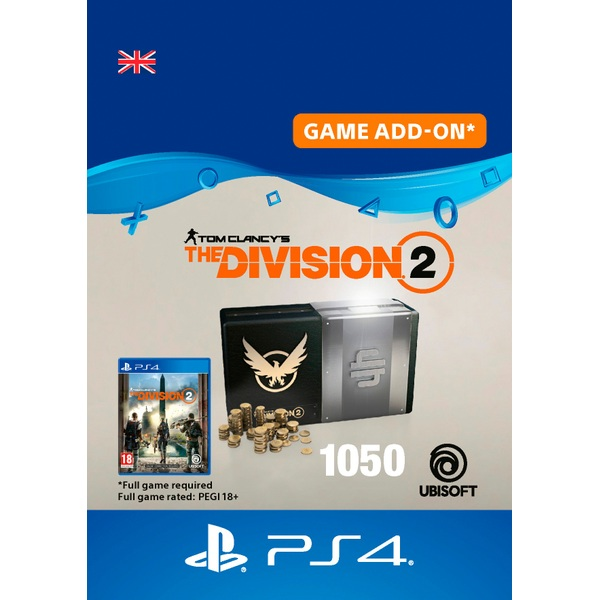 Tom Clancy's The Division 2 – 1050 Premium Credits Pack - PS4 (Digital Download)