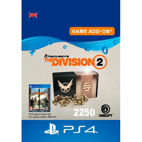 Tom Clancy's The Division 2 – 2250 Premium Credits Pack - PS4 (Digital Download)