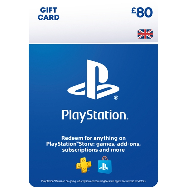 PlayStation® Wallet Top-up: £80 GBP