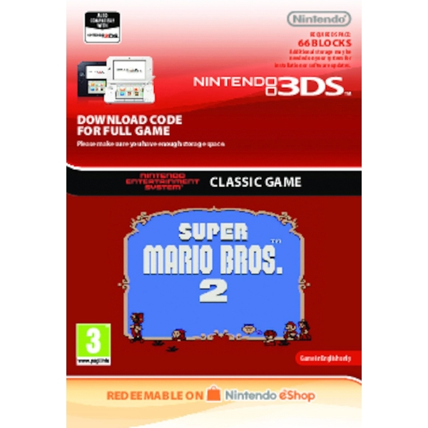 Super Mario Bros. 2 - Nintendo 3DS (Digital Download)