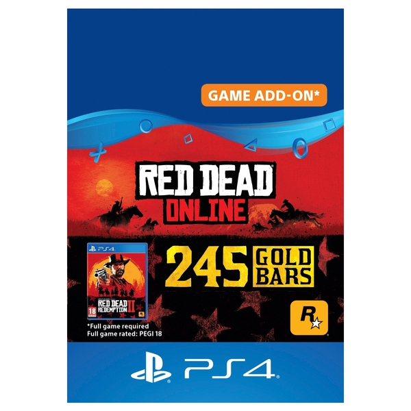 Red Dead Redemption 2: 245 Gold Bars - PS4 (Digital Download)