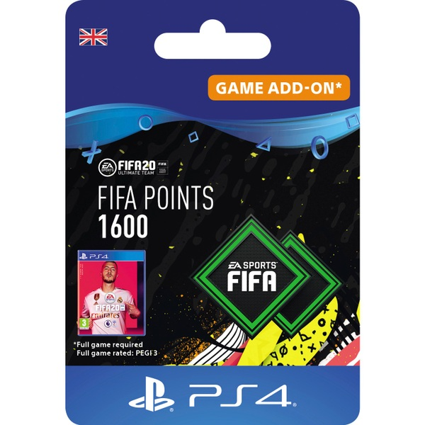 FIFA 20 Ultimate Team FIFA Points 1600 - PS4 (Digital Download)