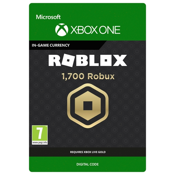 Roblox: 1700 Robux - Xbox One (Digital Download)