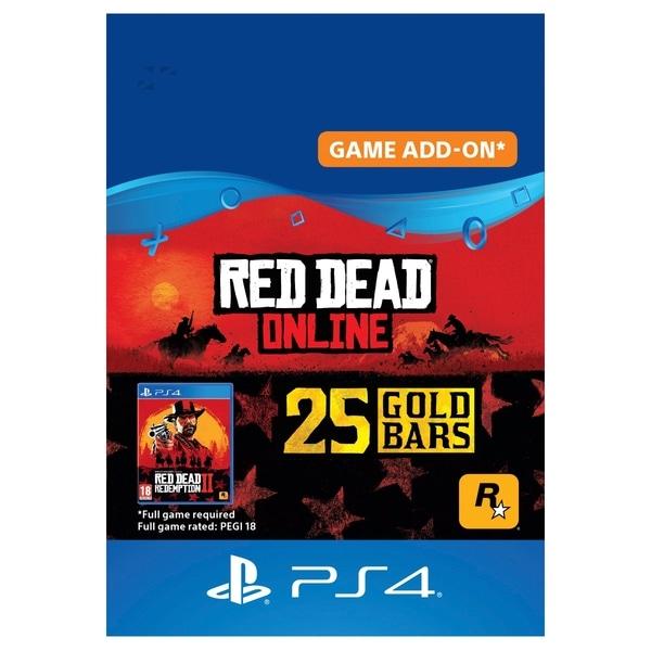 Red Dead Redemption 2: 25 Gold Bars (PROMO) - PS4 (Digital Download)