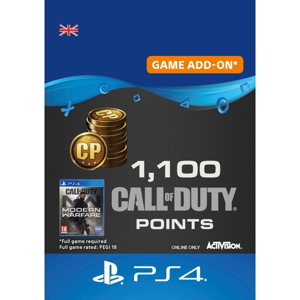 1,100 Call of Duty: Modern Warfare Points - PS4 (Digital Download)
