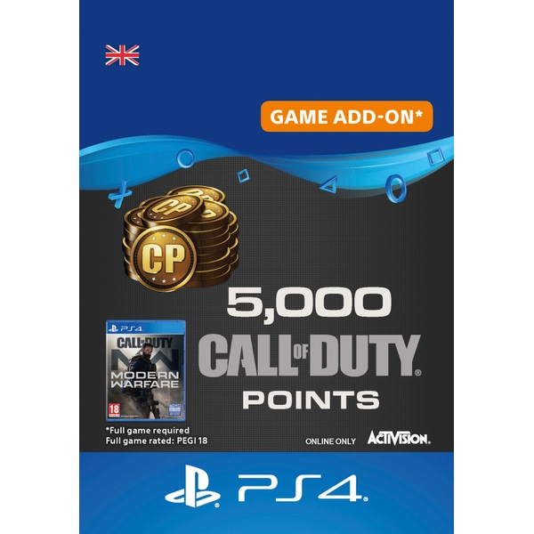 5,000 Call of Duty: Modern Warfare Points - PS4 (Digital Download)