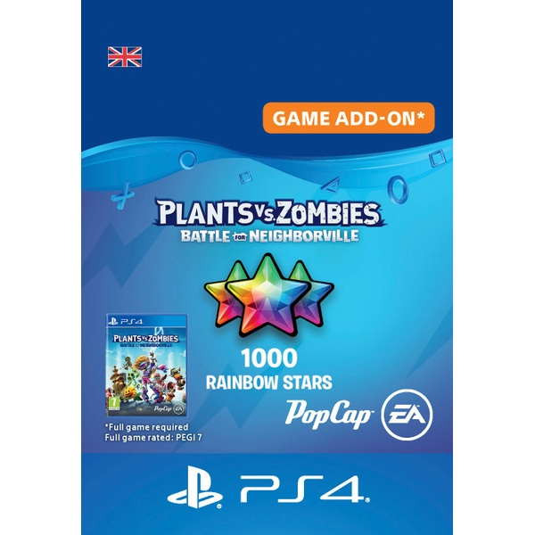 Plants Vs. Zombies: Battle for Neighborville - 1000 Rainbow Stars - PS4 (Digital Download)