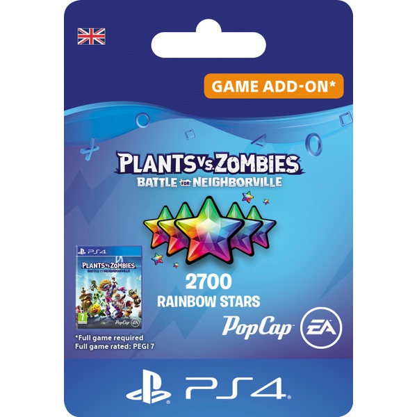 Plants vs. Zombies: Battle for Neighborville 2500 (+200) Rainbow Stars - PS4 (Digital Download)