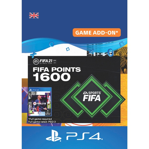 FIFA 21 Ultimate Team - 1600 FIFA Points PlayStation (Digital Download)