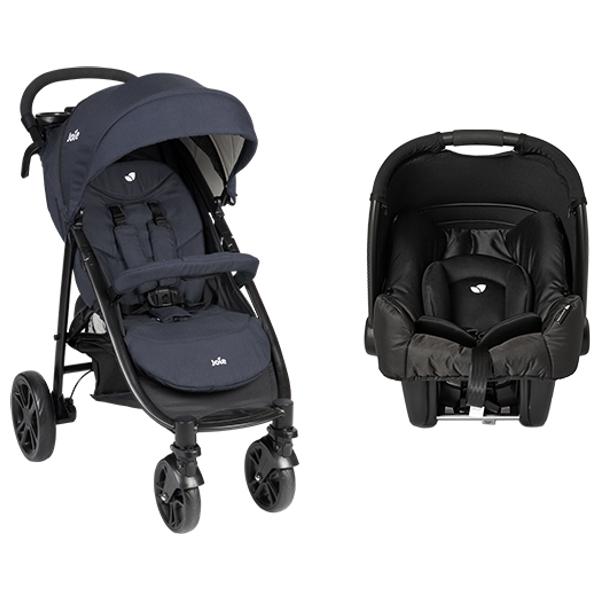 Joie Litetrax 4 Navy Pushchair and Car Seat Bundle