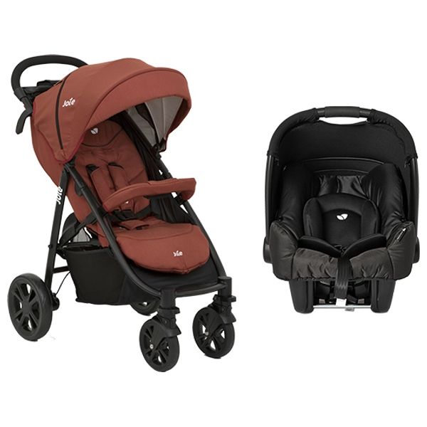 Joie Litetrax 4 Red Pushchair and Car Seat Bundle