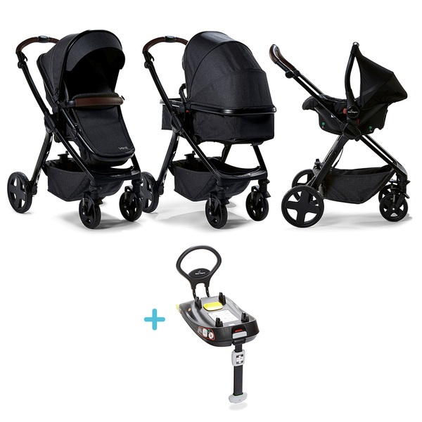 Baby Elegance Charcoal Venti Travel System, Car Seat and Base