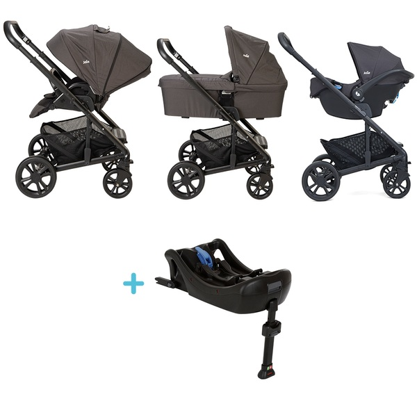 Joie Chrome Travel System, Car Seat and Base