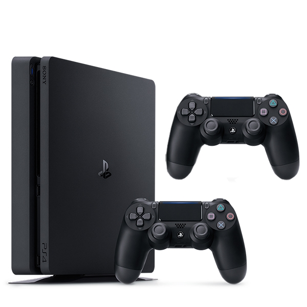 PS4 500GB Black Console & Extra Controller