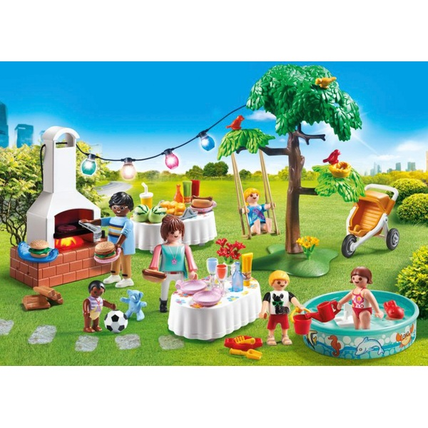 playmobil 9272 city life housewarming party with