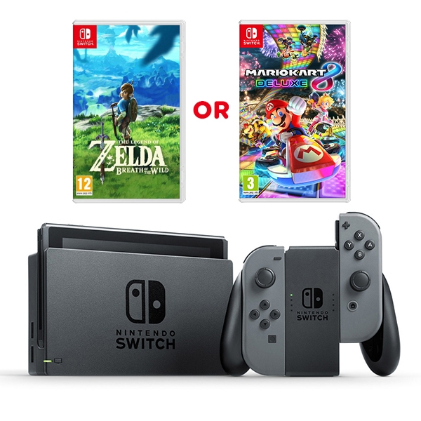 Nintendo Switch Grey Console Amp One Select Game Nintendo