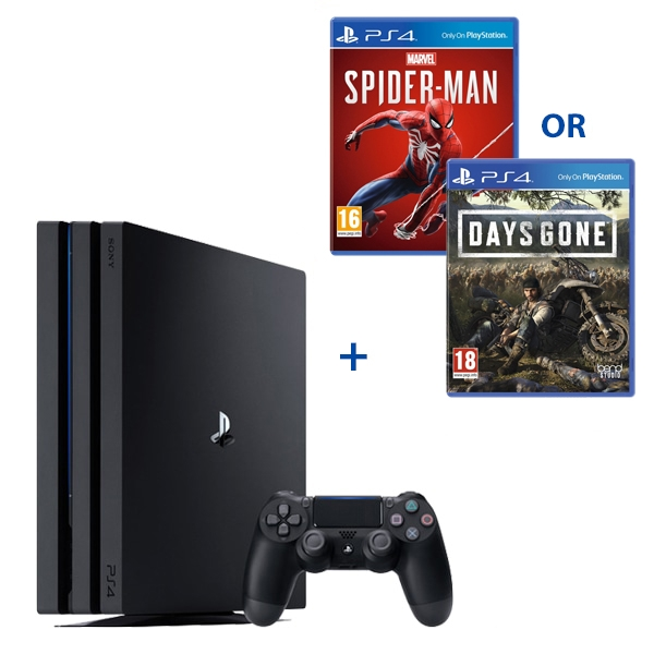 PS4 Pro 1TB Black Console & One Select Game