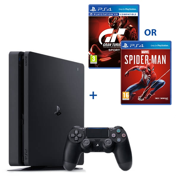 PS4 500GB Black Console & Select Game