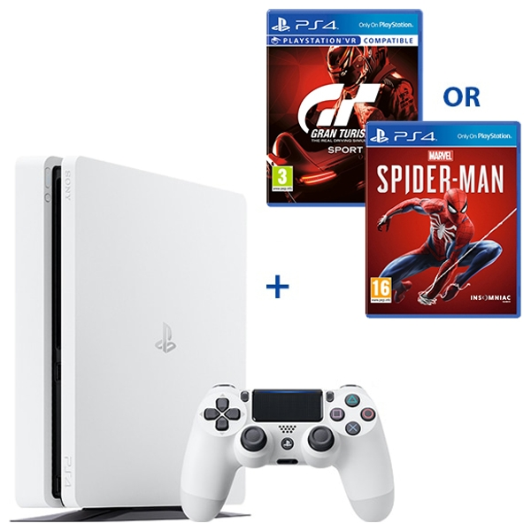 PS4 500GB White Console & One Select Game