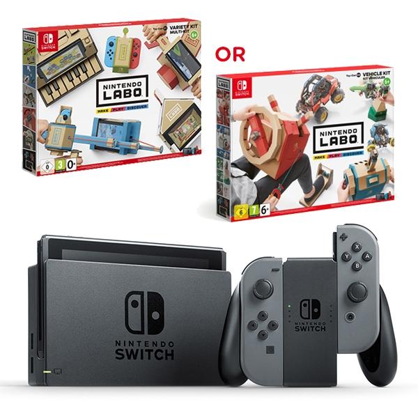 Nintendo Switch Grey & LABO Variety or Vehicle Kit
