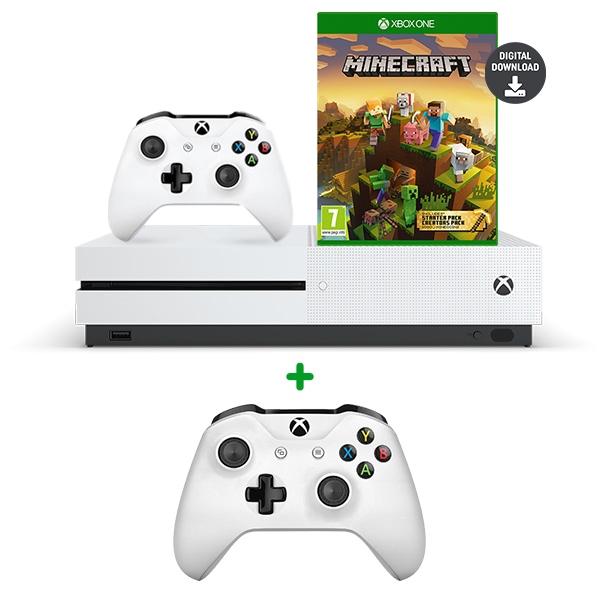 Xbox One S 1TB Minecraft Creators Bundle & Extra Controller