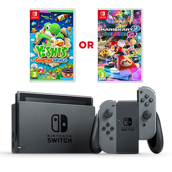 Nintendo Switch Grey Console & One Select Game